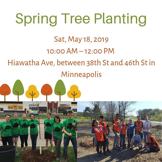 THIS Saturday, May 18th! Join us to plant trees along Hiawatha Avenue in Minneapolis. Sign up on our website: https://www.iccminnesota.org/lastest-news #ICCofMN #IServeMN #PlantSomeTrees