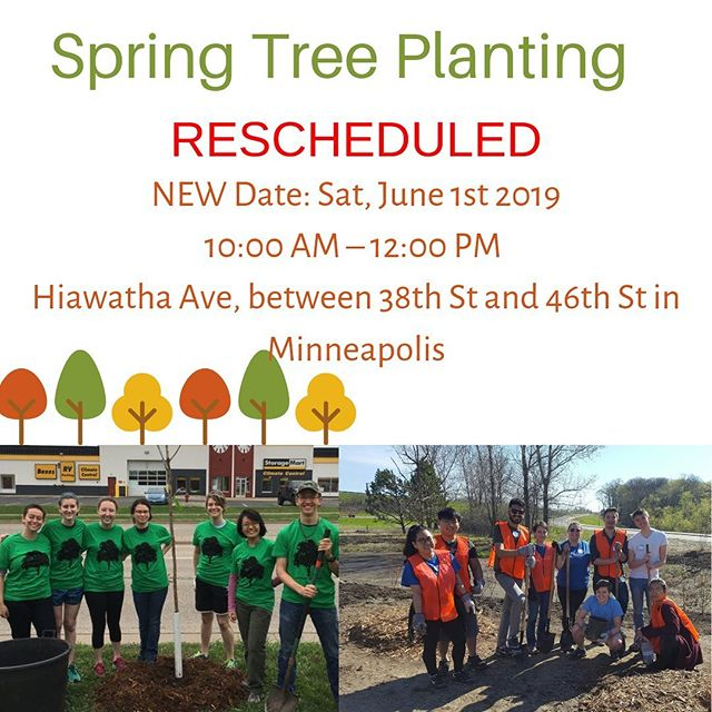 RESCHEDULED: Unfortunately, due to forecasted stormy weather, Spring Tree Planting has been rescheduled for June 1st. Check our website for an updated Eventbrite: https://www.iccminnesota.org/lastest-news. Let us know if you can make it! #ICCofMN #IServeMN #WePlantTrees