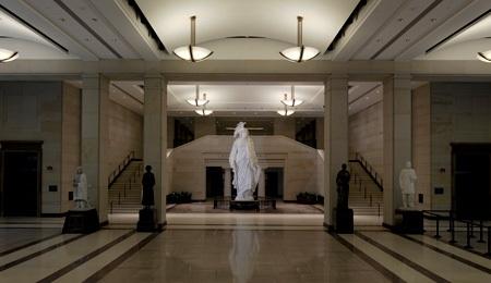 Emancipation Hall, United States Capitol Building, Washington DC