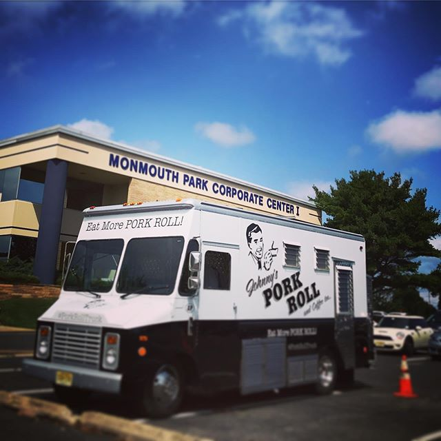 Oink Oink - thanks many for a great first day #MonmuthParkCorporateCenter - will be back tomorrow and everyday - Mon thru Fri 7:30 1:30 ... #PorkRoll #PorkRollTruck ... #WestLongBranch