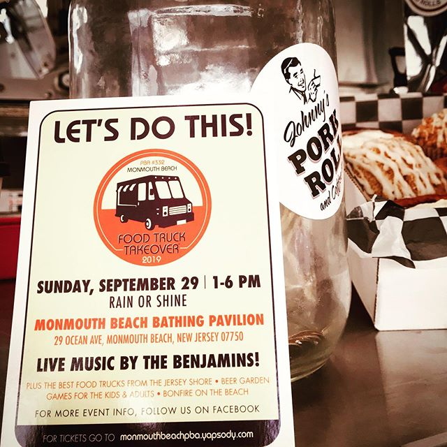 Oink - 4th Year Running ... CRAZY Monmouth Beach PBA #FoodTruck Take-Over September 29th Monmouth Beach Bathing Pavilion.  1 to 6 ... oink #PorkRollTruck #porkroll