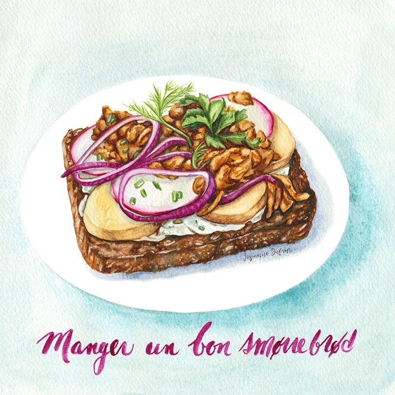 Danish sandwich smorrebrod