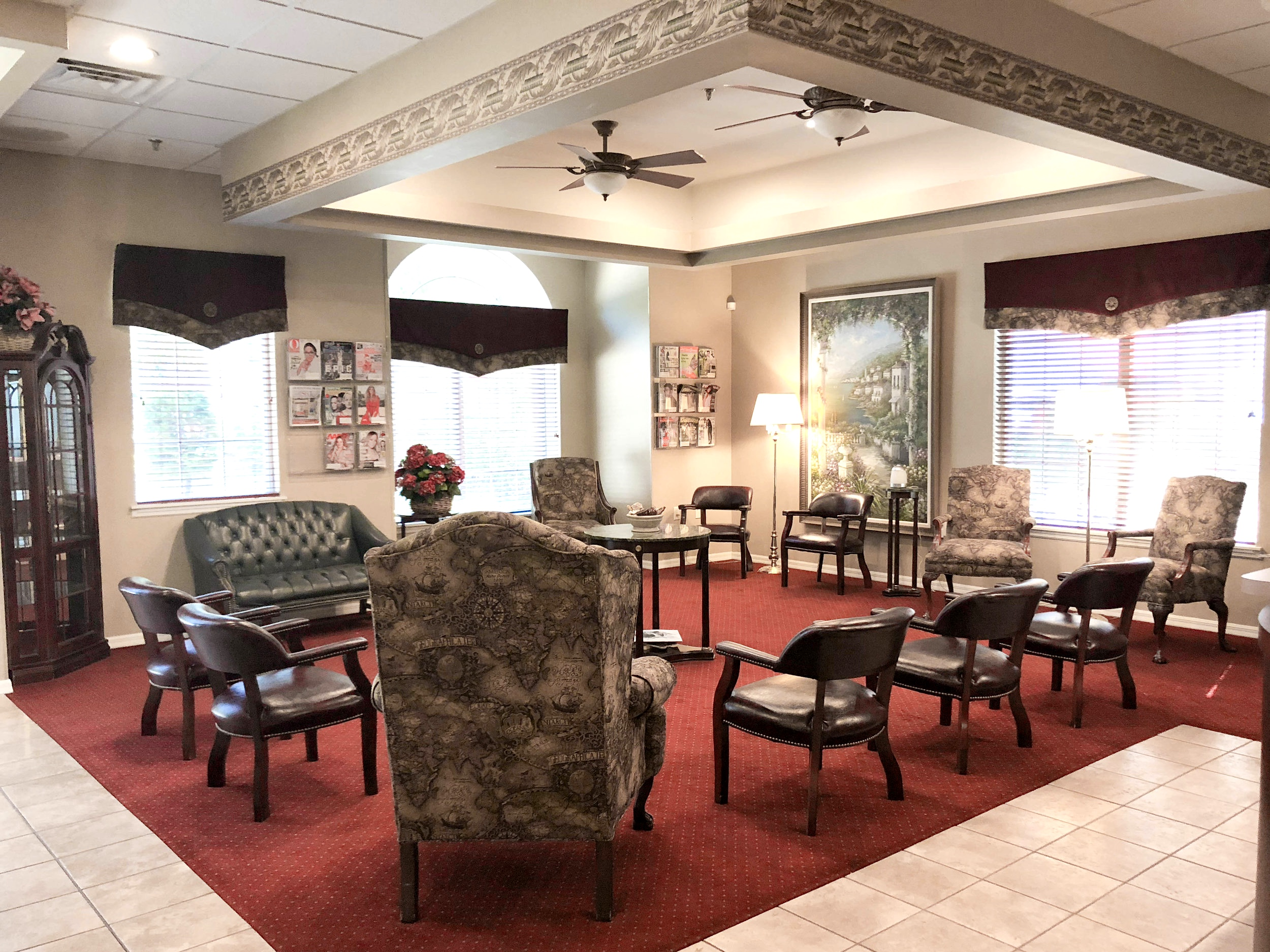 Dr. Cote Orlando Periodontist Waiting Room