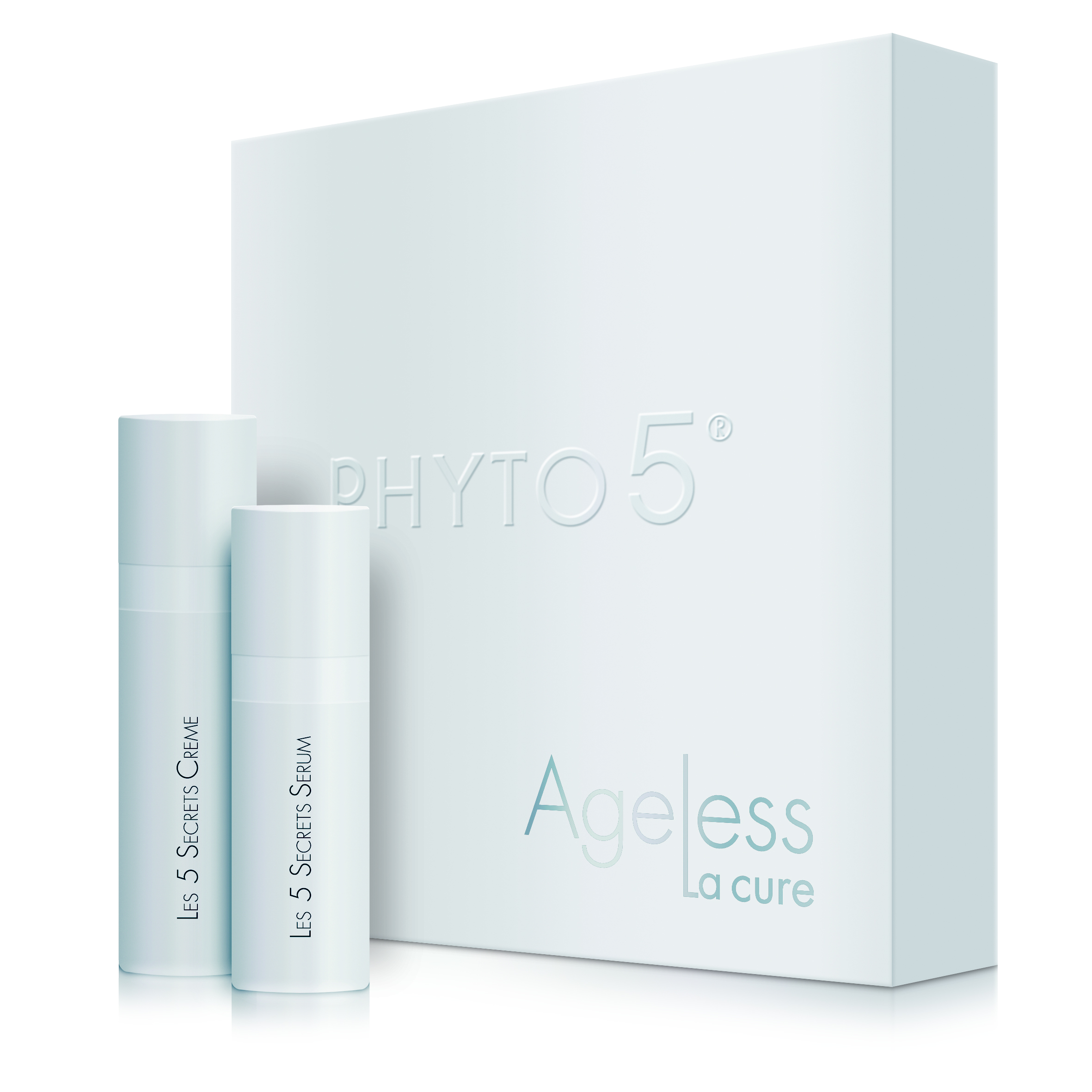 One of ten products from the line: The Five Secrets Facial Serum and Cream Kit for a 3-Week Cure