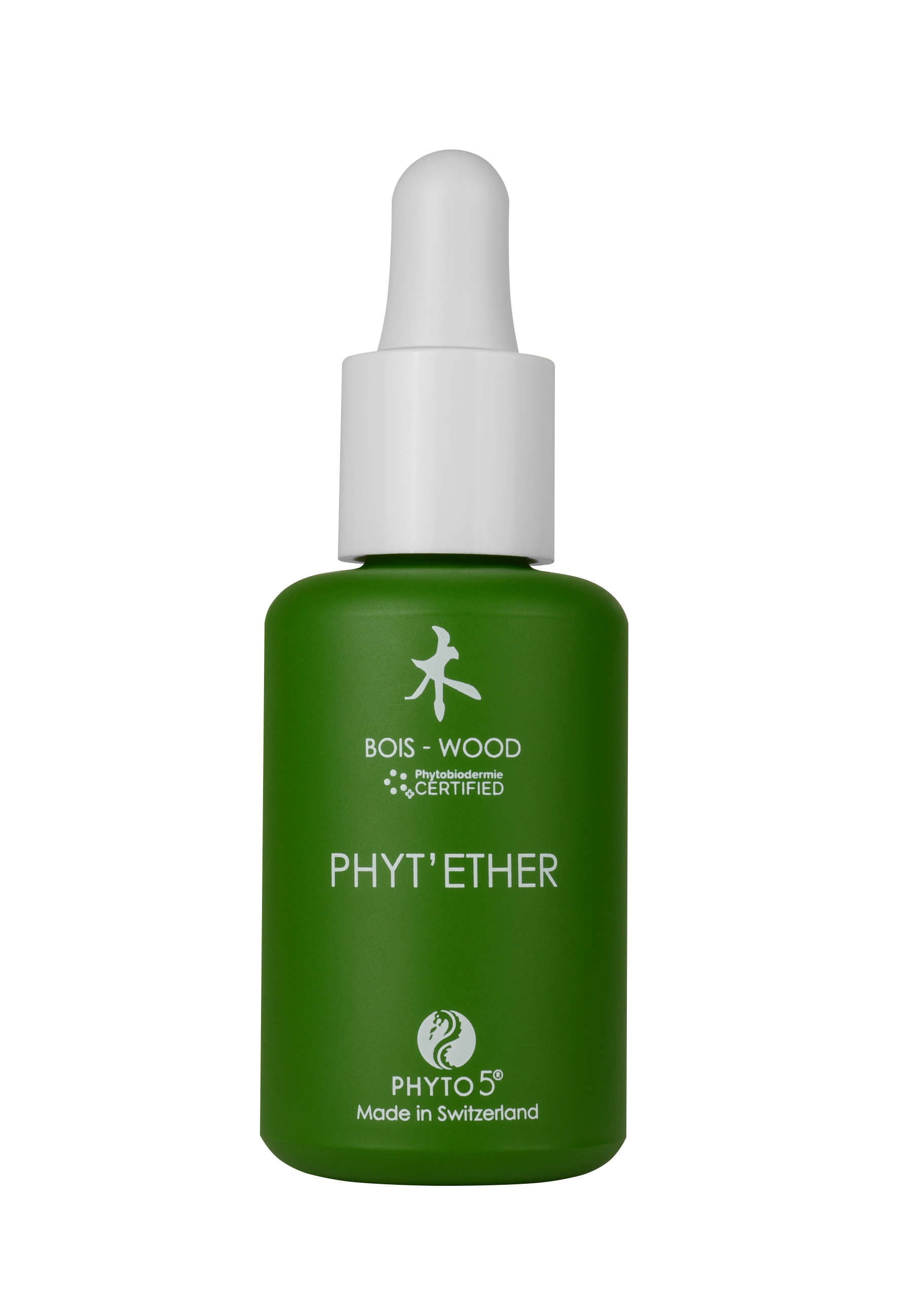 A 1 oz. bottle of Wood element Phyt'Ether serum for face and body