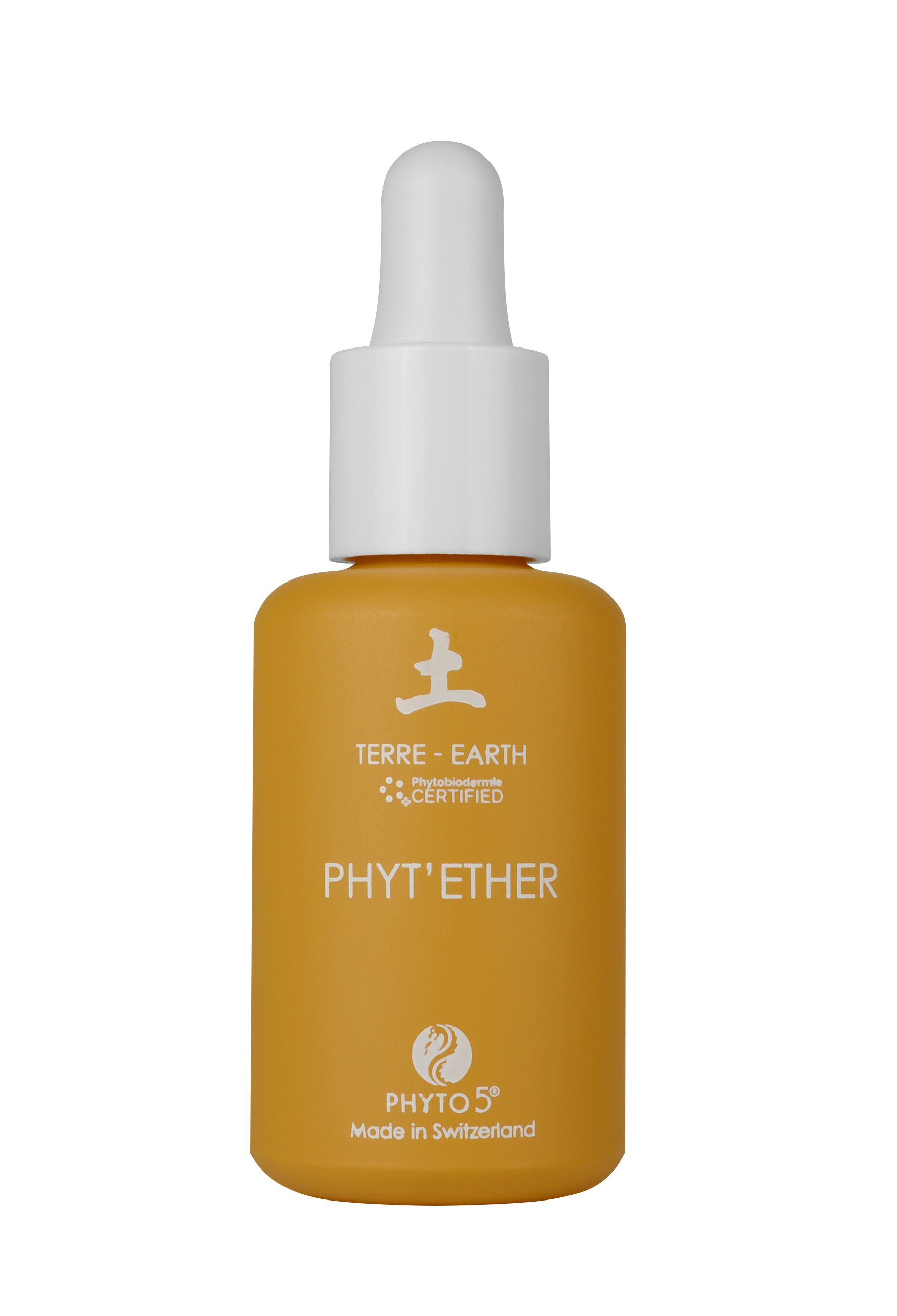 A 1 oz. bottle of Earth element Phyt'Ether serum for face and body
