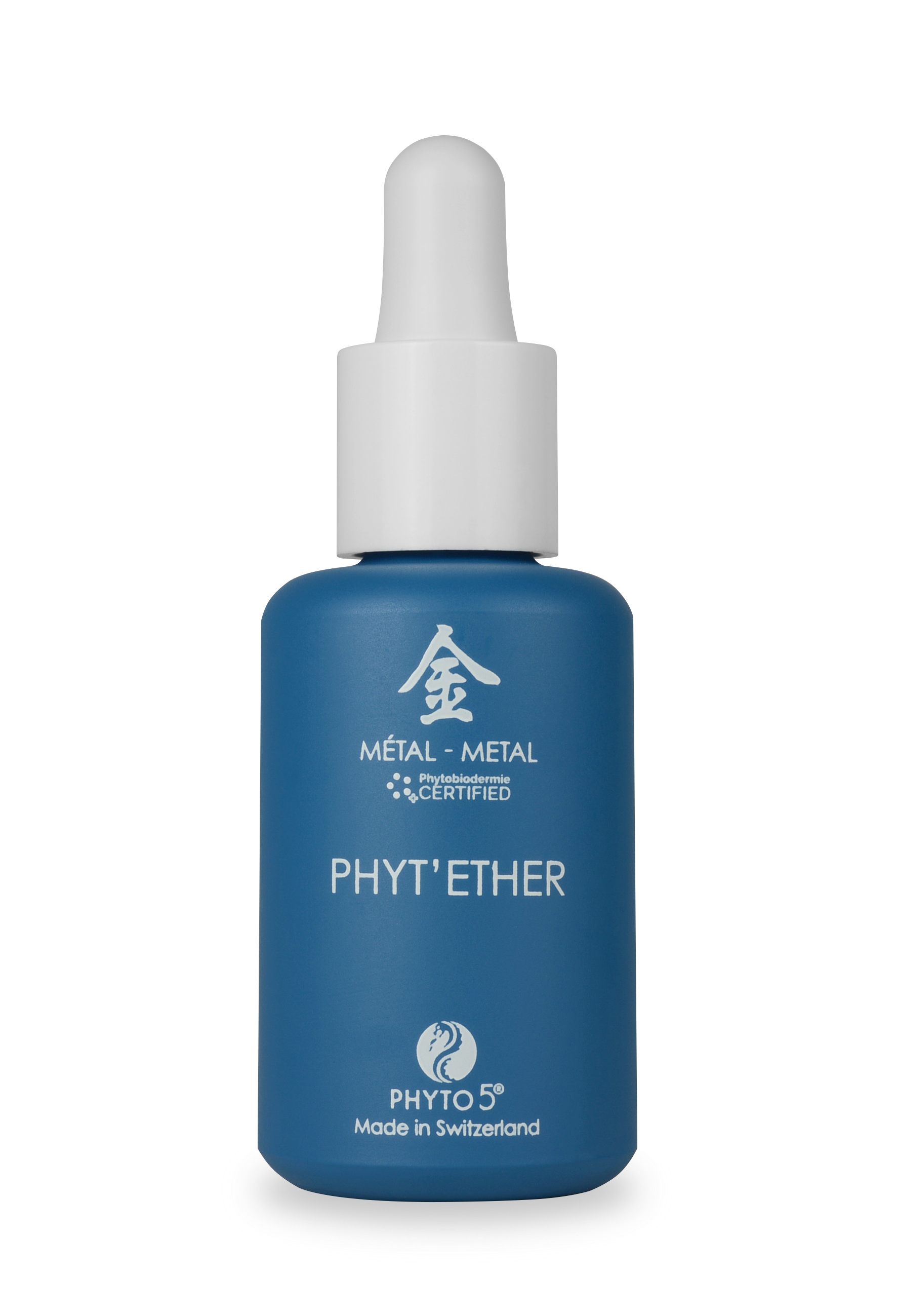 A 1 oz. bottle of Metal element Phyt'Ether serum for face and body