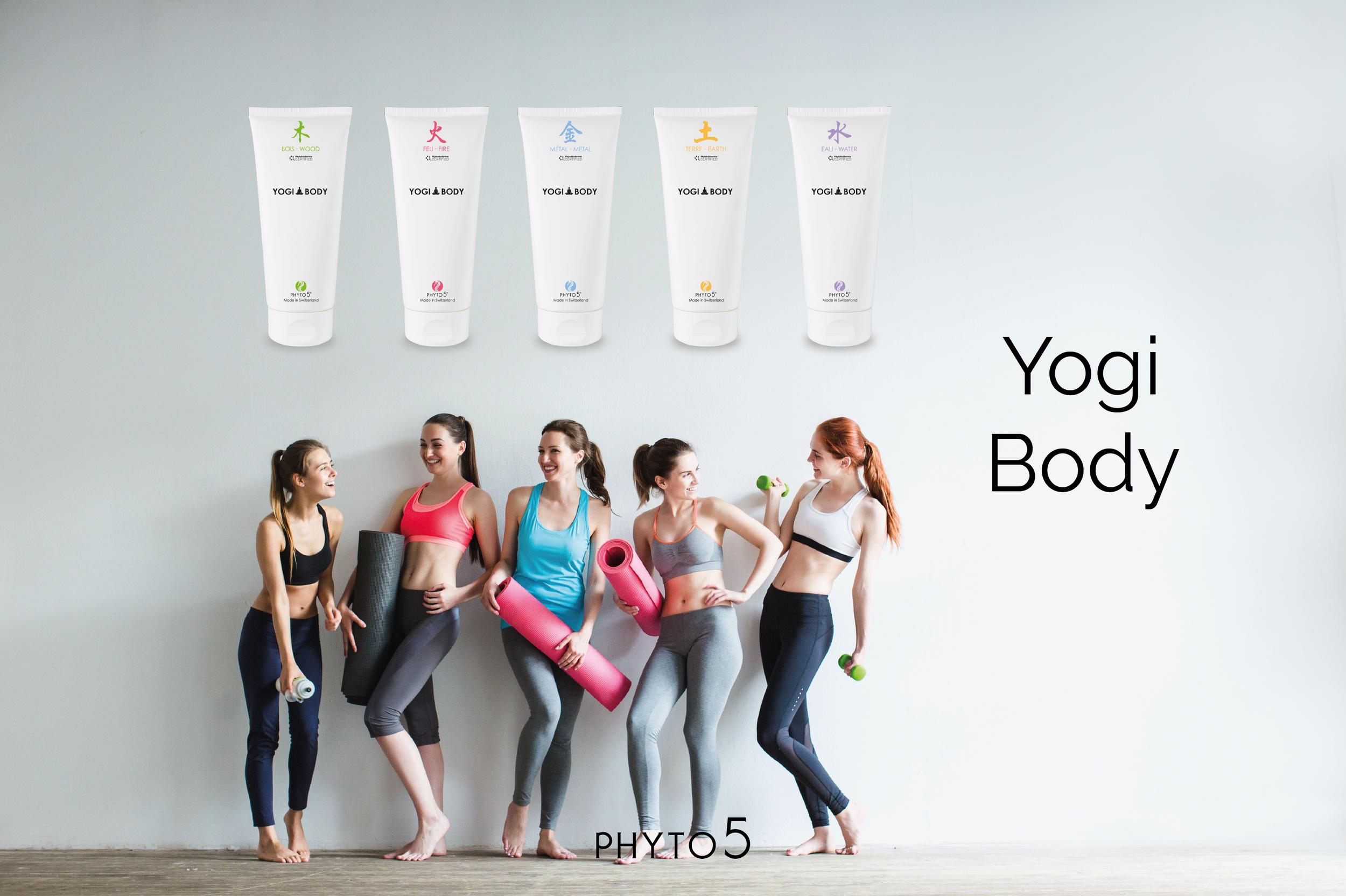 All five Yogi Body Gels