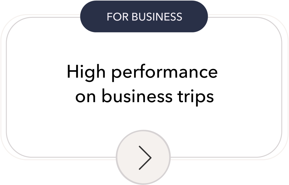 Timeshifter jet lag app for Business: High performance on business trips