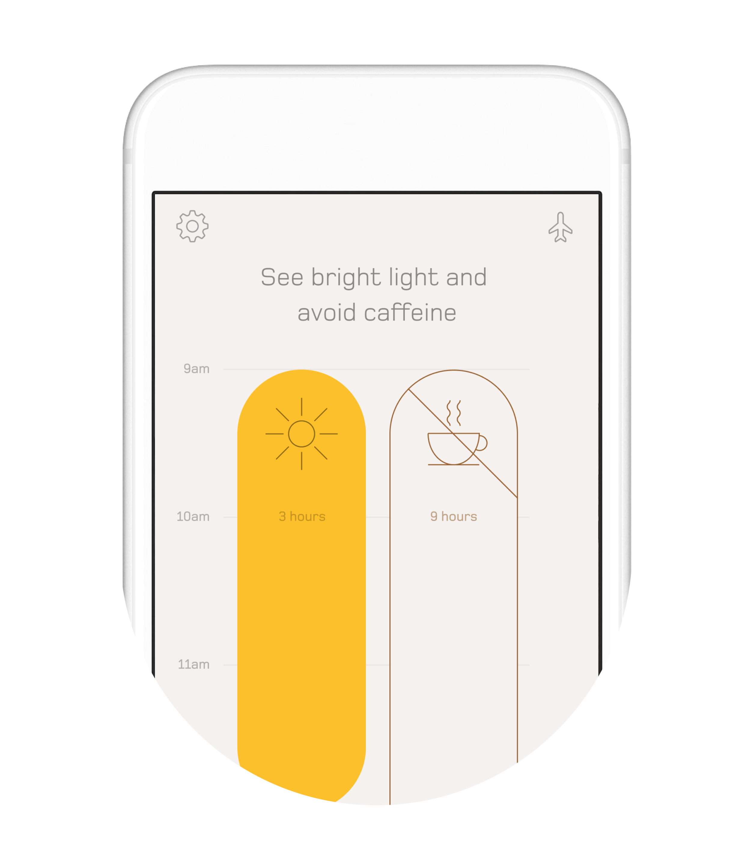 With the Timeshifter jet lag app, it's as simple as taking small actions at specific times