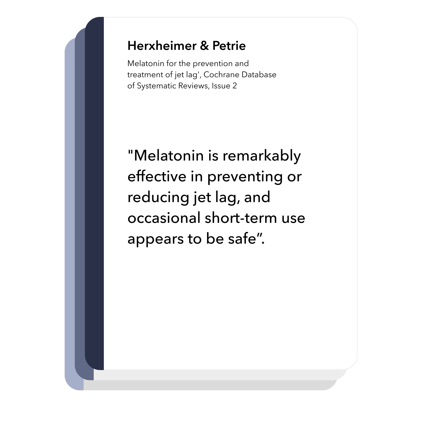 Timeshifter is based on the latest research in sleep and circadian neuroscience: Melatonin