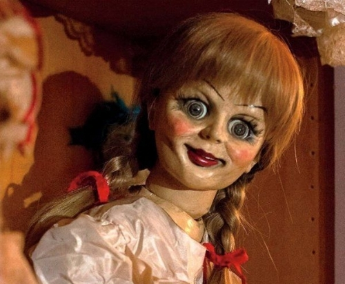 Smiling in madness Annabelle doll