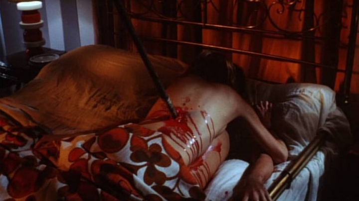 Scene from Bay Of Blood that was later inspiration for a scene in Friday The 13th