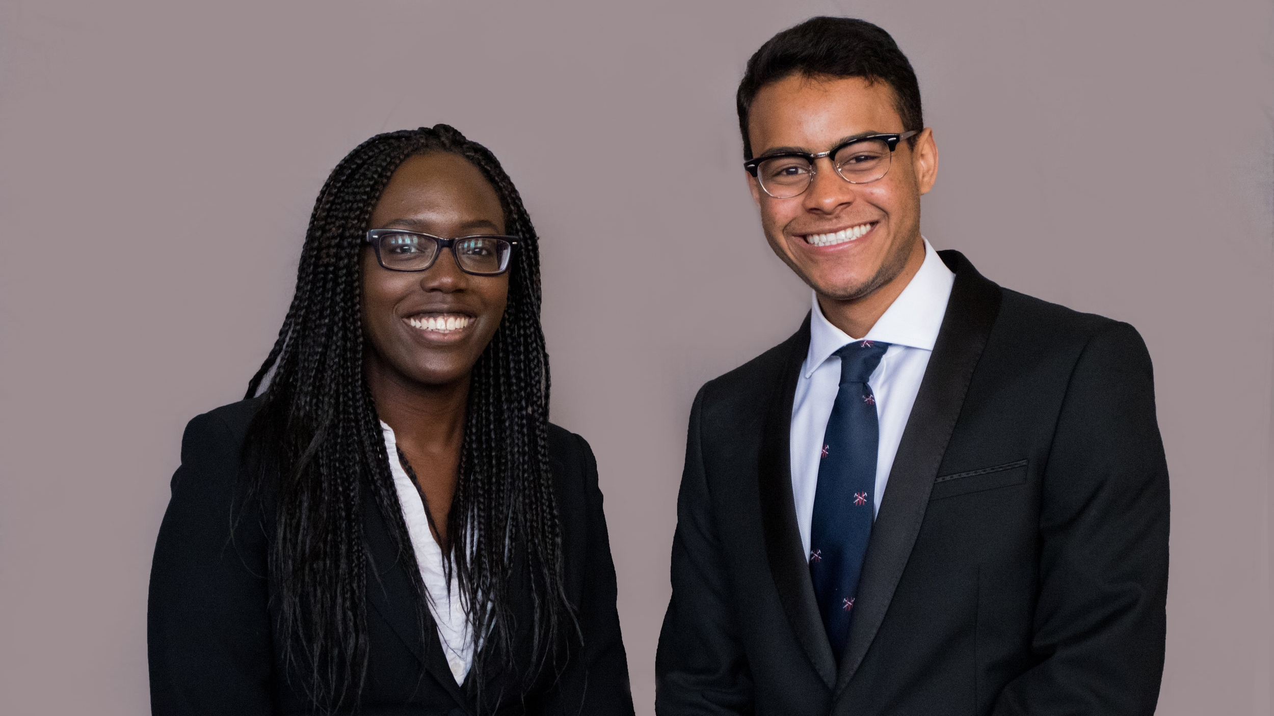 Pictured: Modupe Lucas (Diversity and Inclusion Officer), Samuel Dwarika (International Student Officer).