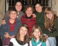 Pictured are Gabrielle, Sharone, Ilan, Aliza, Rachel and Arielle Small with their grandmother, Sarah Small