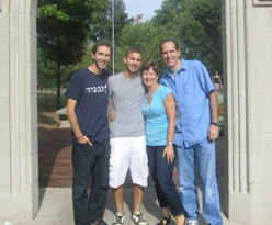 Reuben and Tami Warshawsky with sons Daniel and Josh