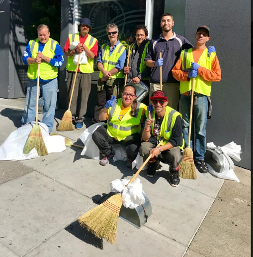 Members of the afternoon shift from North Beach Citizens' Street Beautification Team.