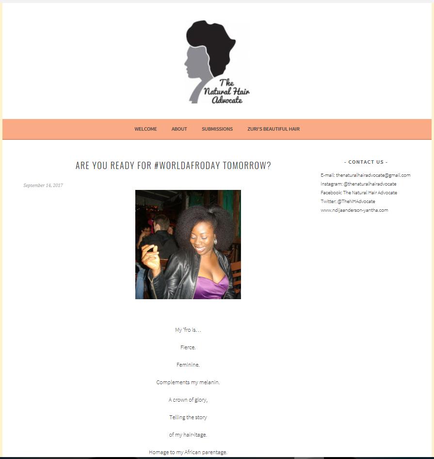 Natural Hair Advocate -