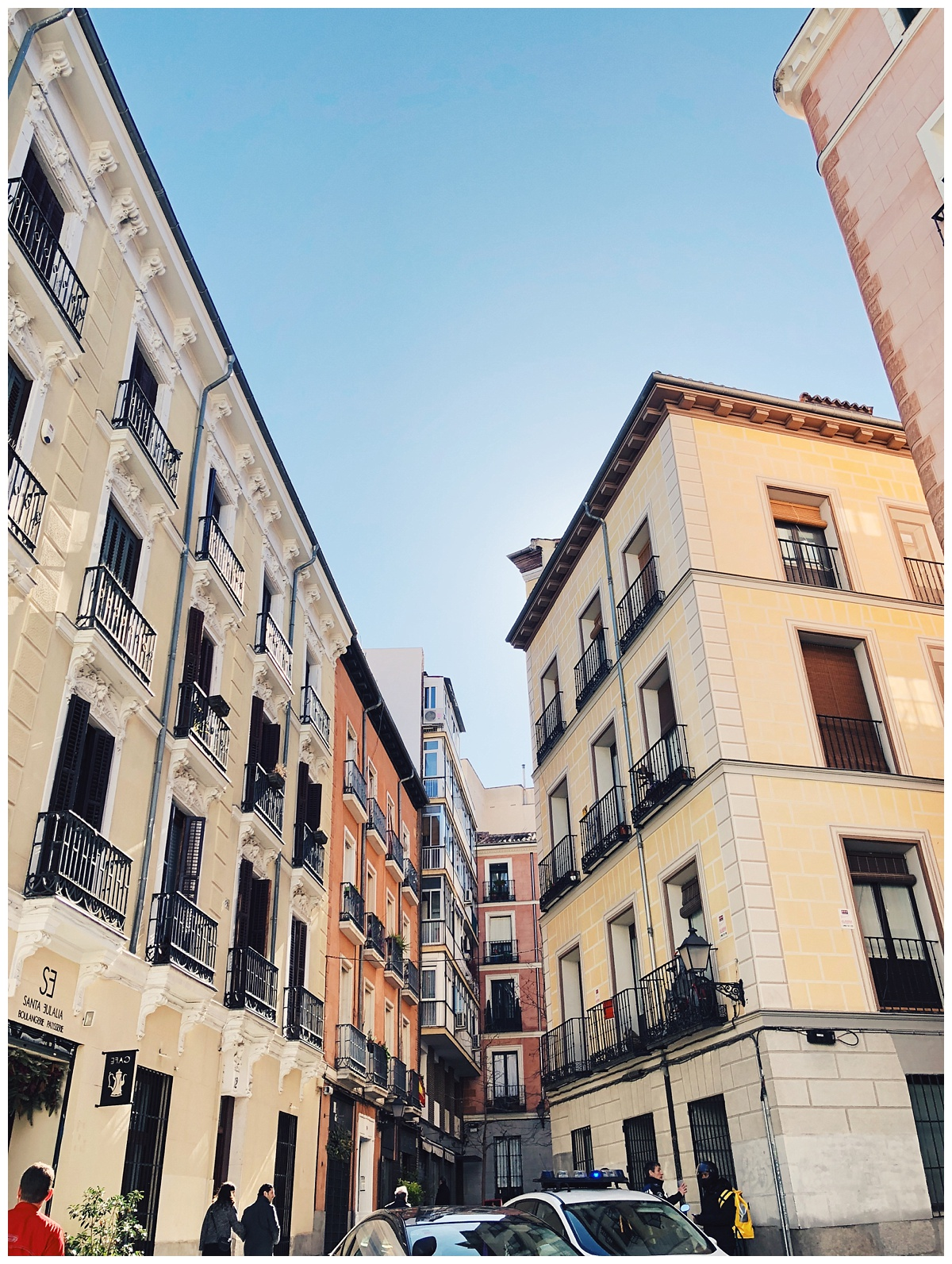 Cute streets of Madrid! It was so fun just roaming these little streets and all of them were filled with cafes and shops.