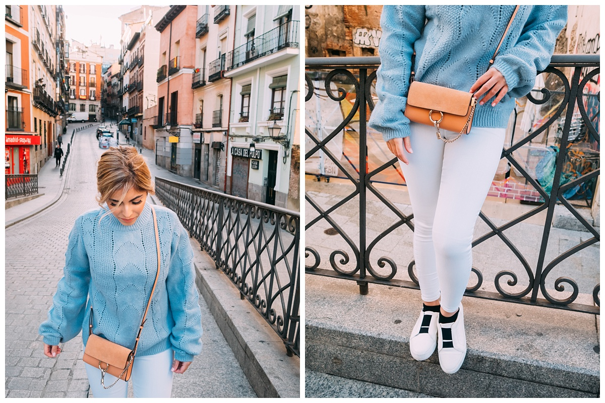 Had to lose the puffer jacket for a quick second to do a little OOTD.  P.S excuse my socks...I was trying to keep my ankles warm.  The sweater is from H&M,  click here . The shoes are Louise et cie,  click here