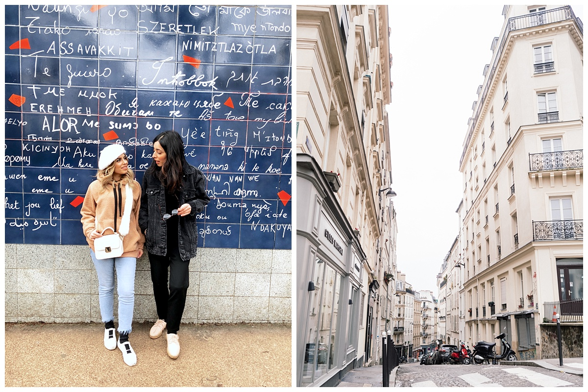 """The """" I LOVE YOU WALL,"""" It says it in every language, also in Monmartre. Look at these streets...I loved this town."""