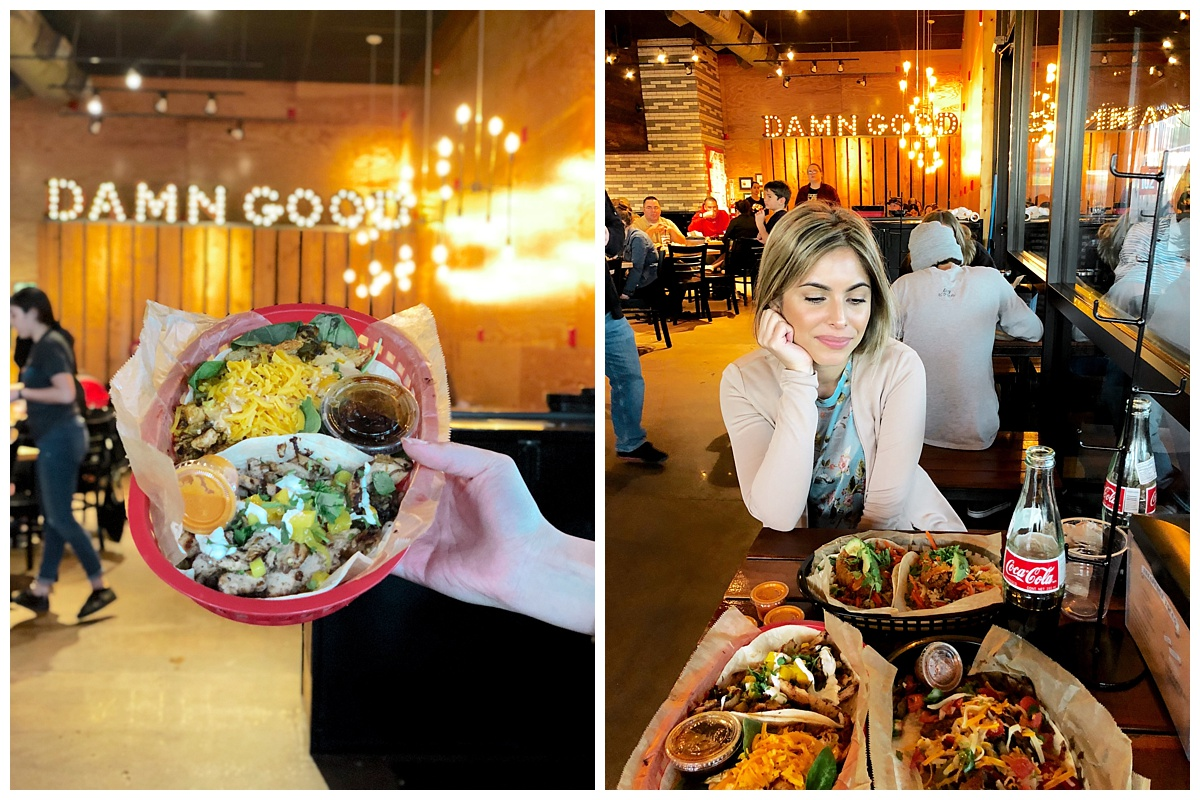 """Torchy's Tacos -  Hands down had the BEST tacos here!! Tried so many different ones and they were ALL so good. Tried the Fried mushroom taco called, """"Independent,"""" it was the best veggie taco I've ever tried. Also, loved their Beef Fajita taco. And their CHEESE DIP was soooo yummy. Definitely recommend trying this place if you love tacos."""