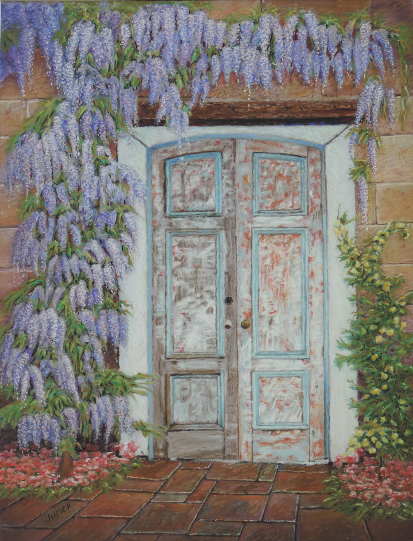 framed in wisteria