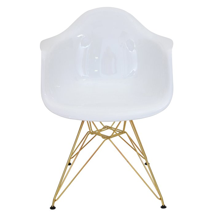 White and Gold Bucket Chairs