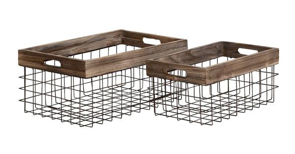 Wooden Wire Basket