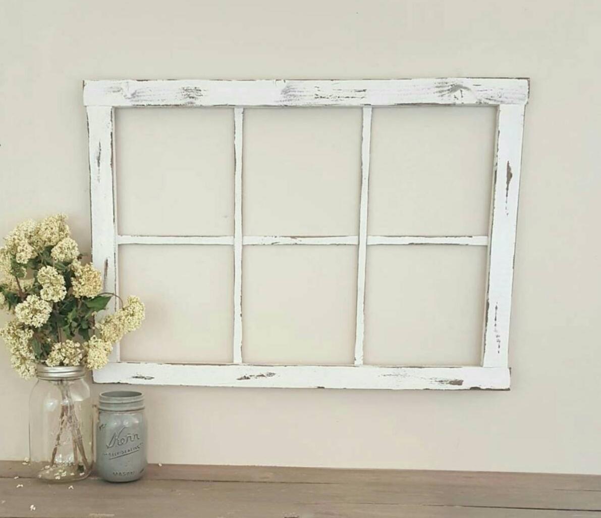 White Antique Window Frame