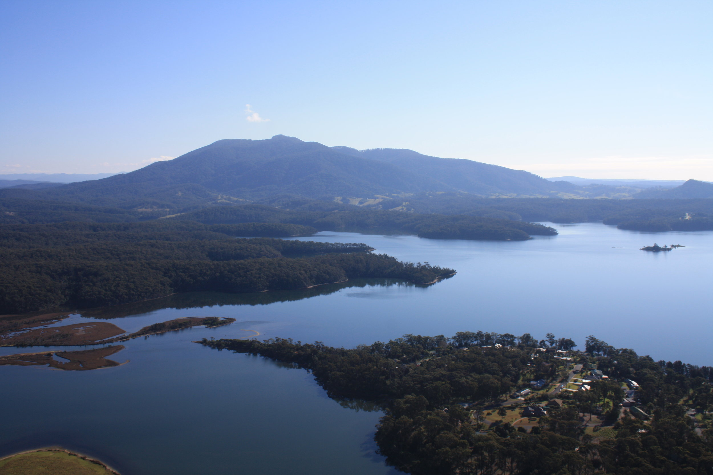 Wallaga Lake and Gulaga (Mount Dromedary)