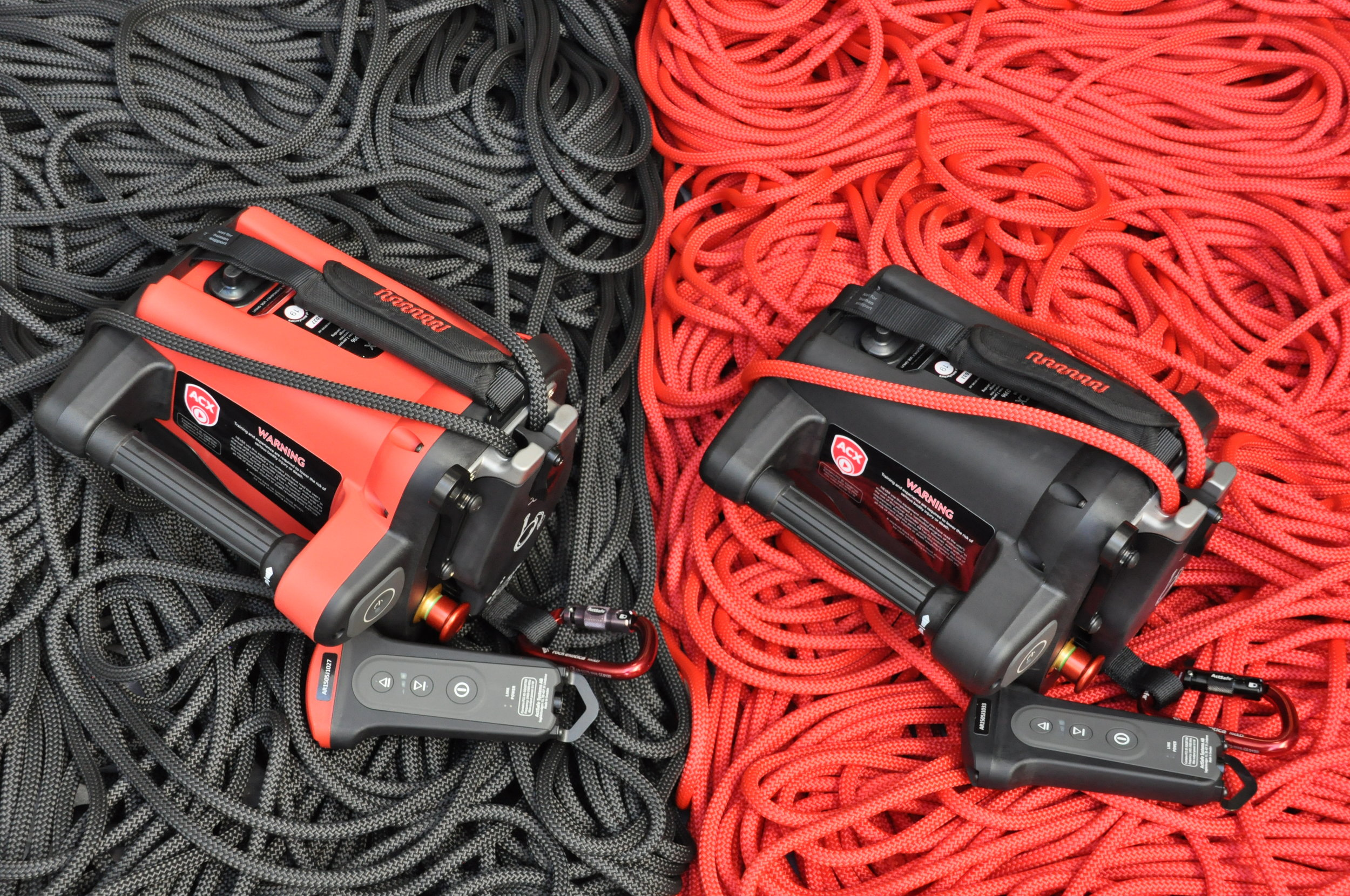Actsafe ACX Red and Black Ascenders on rope.JPG