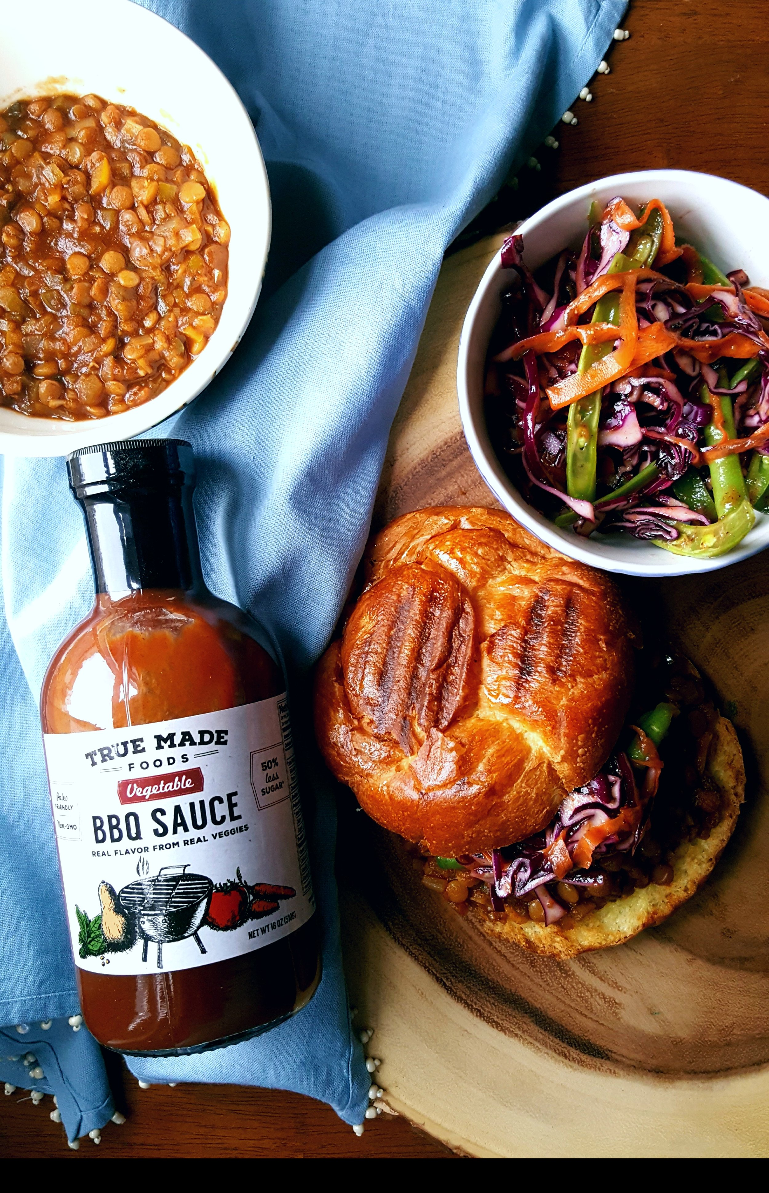 Vegan Sloppy Joes with True Made BBQ Sauce