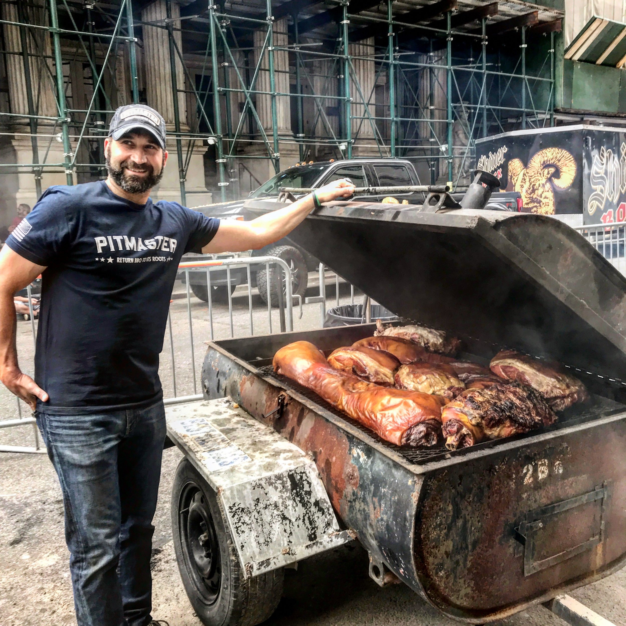 Ed Mitchell's Whole Hog cooking at the Big Apple BBQ