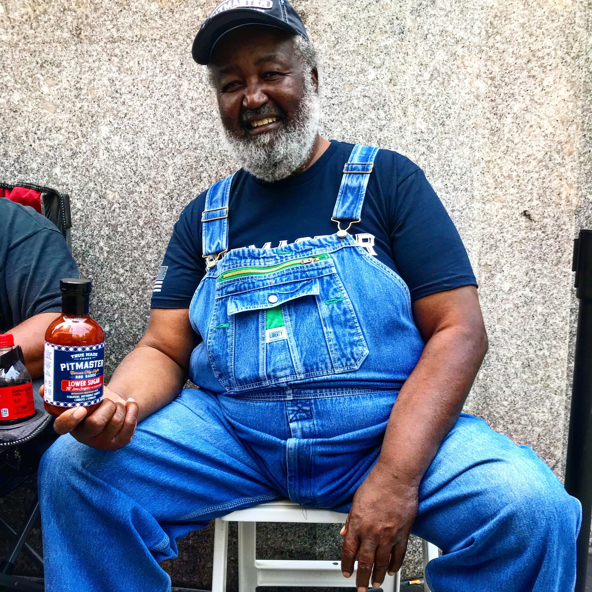 Ed Mitchell himself and True Made Foods' Pitmaster BBQ Sauce