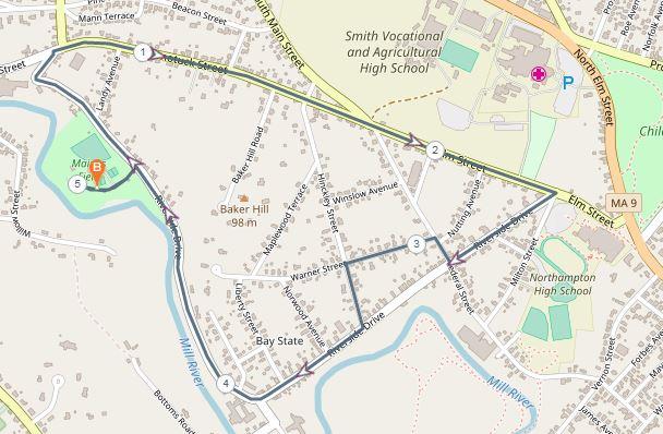 5K Run Course Map