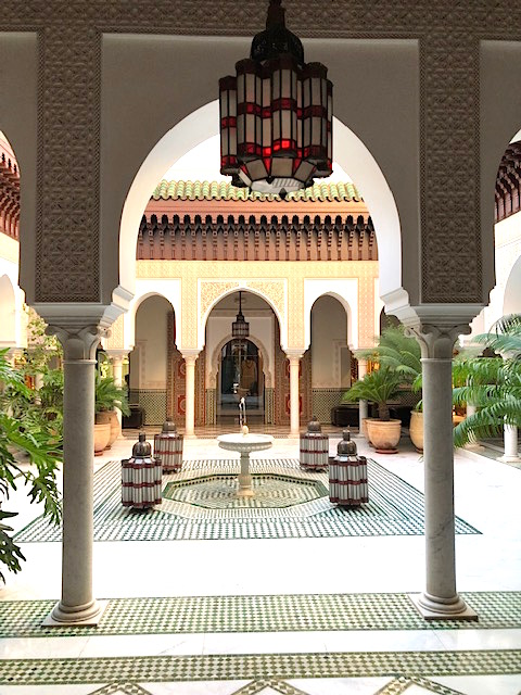 Courtyard of La Mamounia
