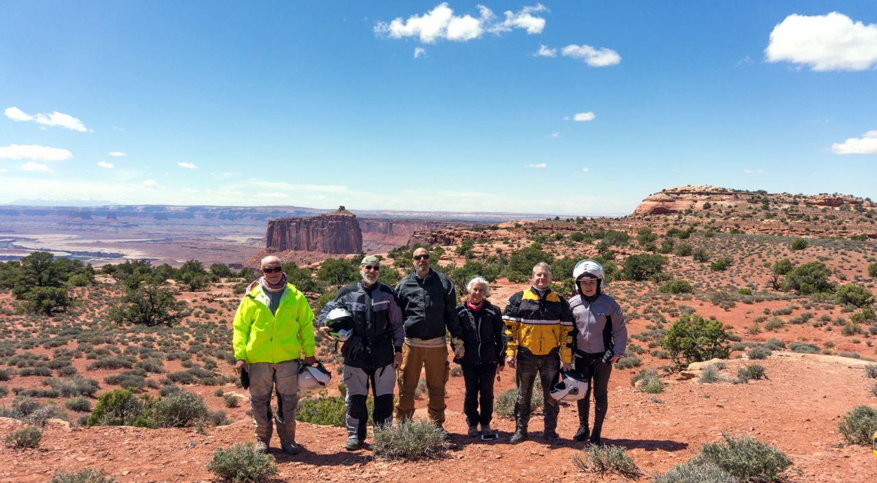 From Left: Ural riders Chris, Spat, Joe, Debra, Dan and Yuen | Photo:  Dom C.