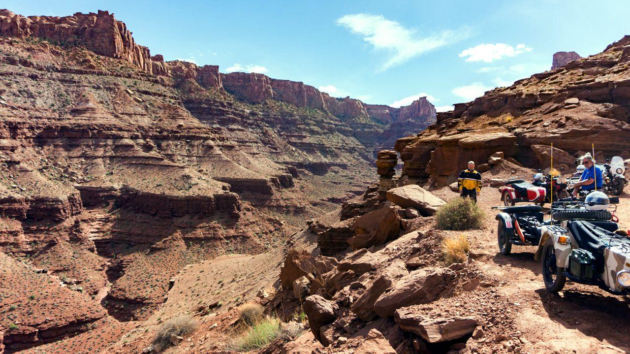 Rest break on Long Canyon Road. Photo:  Dom C.