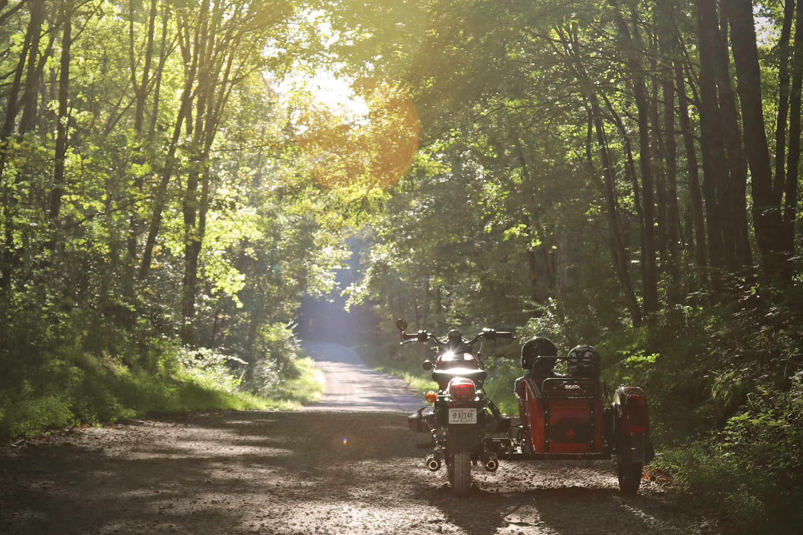 Ural cT touring gravel road