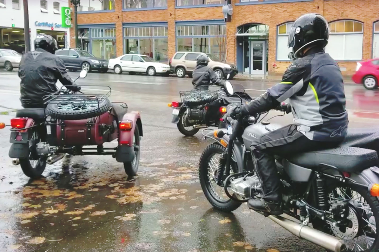 Rolling out for a demo ride at  Ural Portland.