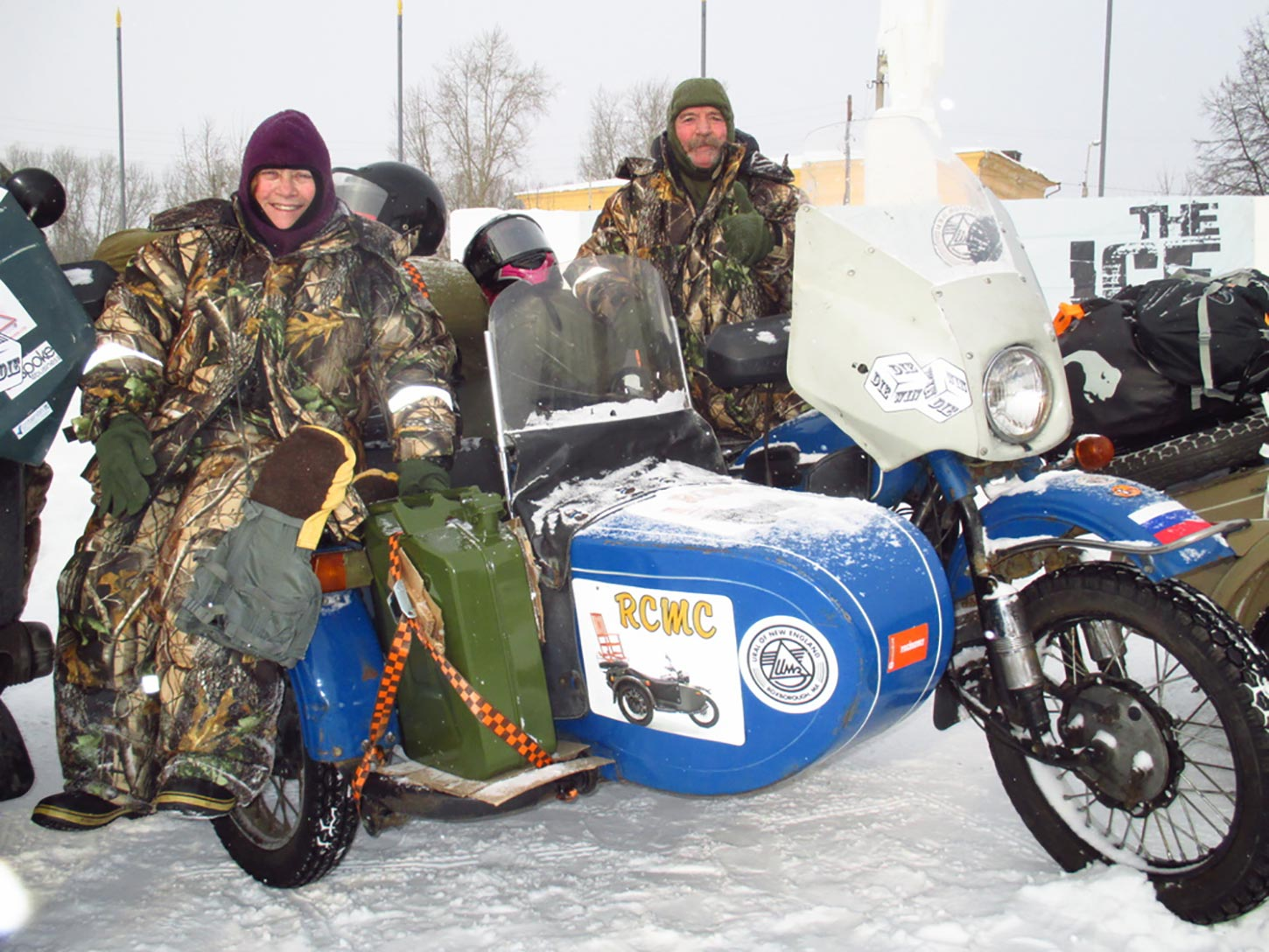 Fredda Cole and Russ Fitch during the 2014 Ice Run.  Photo by The Adventurists