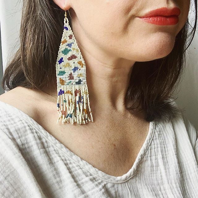 Made for summer days and celebrations. Hope you are enjoying this beautiful kick off to summer ❤️🌈. A few days left to snag the #terrazzo earring in the @thehandmadepopup - and make them part of your go-to for all those warm summer nights ahead.