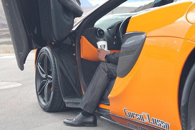 Here's to starting your week off on the right (or in this case, left) foot! . . . #cars #exoticcars #carsandcoffee #coffee #mclaren #mclaren570s #570s #f1 #billionairedoors