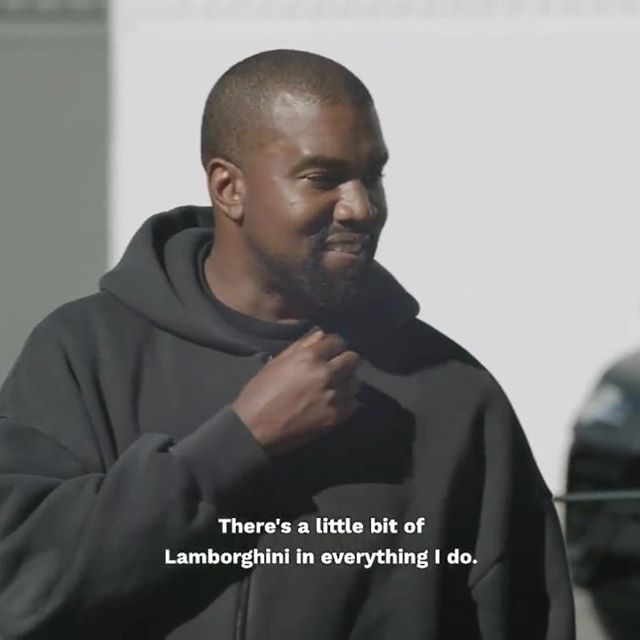 """There's a little bit of Lamborghini in everything I do."" Kanye West gave some insight about his inspiration in his @forbes interview yesterday that we can definitely understand.  What inspires you?"