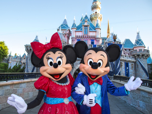 Mickey and Minnie Dazzle in costumes