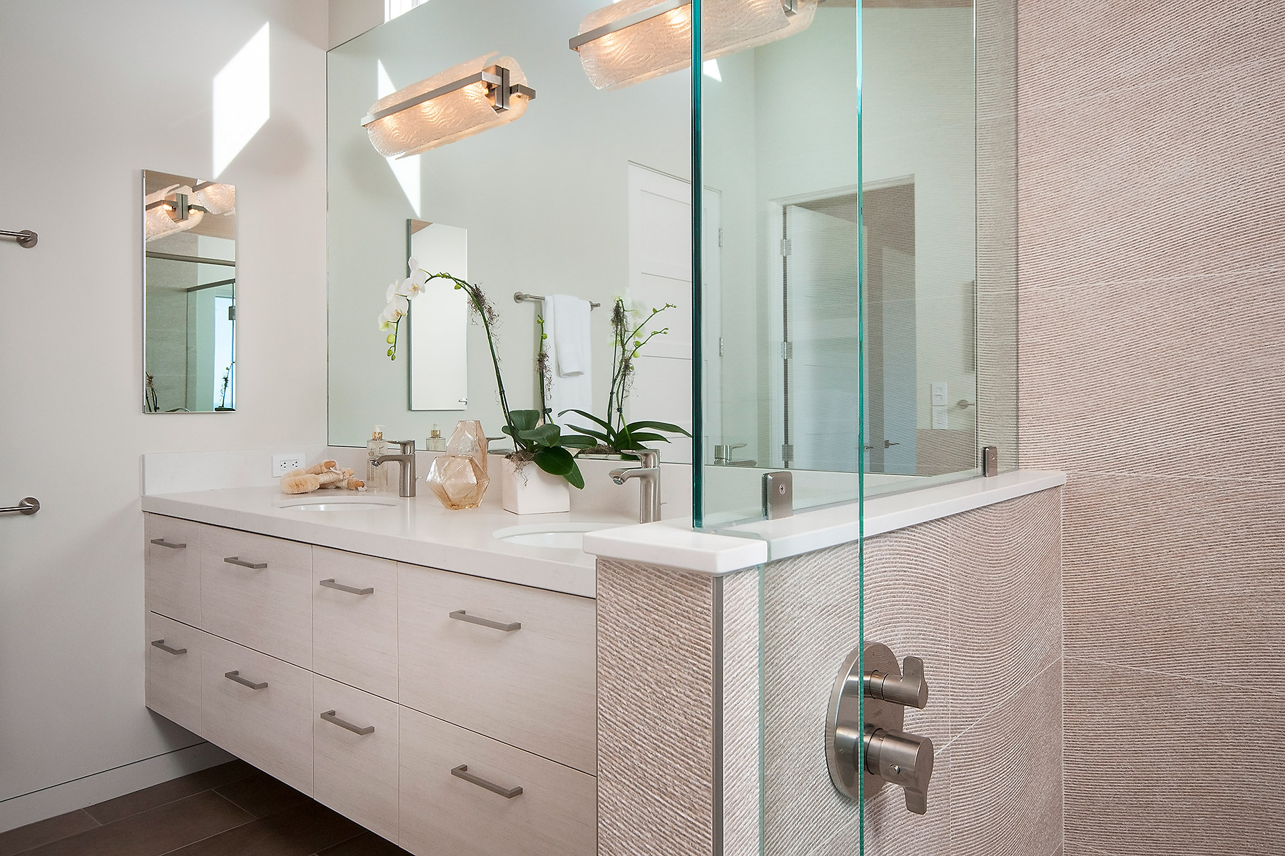 Master bath #1 with Frameless Glass Shower