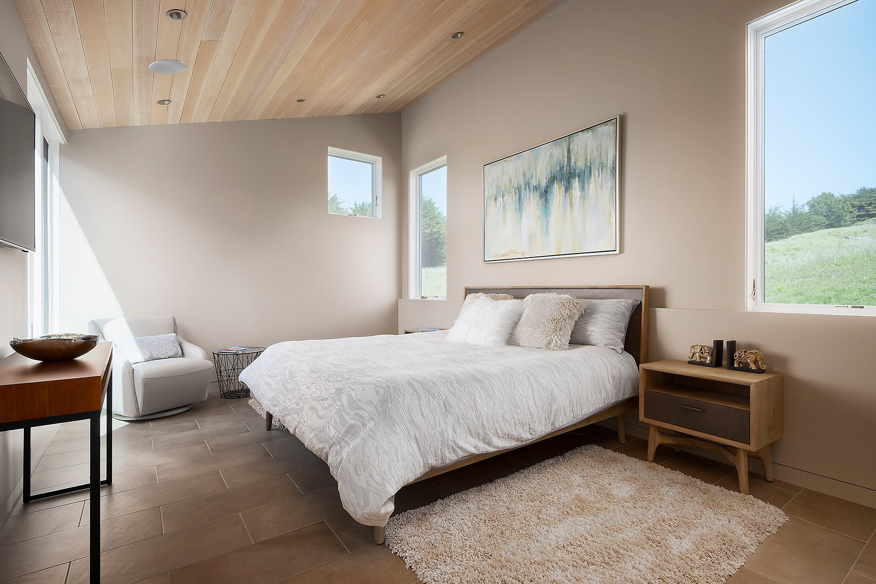 Master bedroom #2 with Custom Walk-in Closets by California Closets
