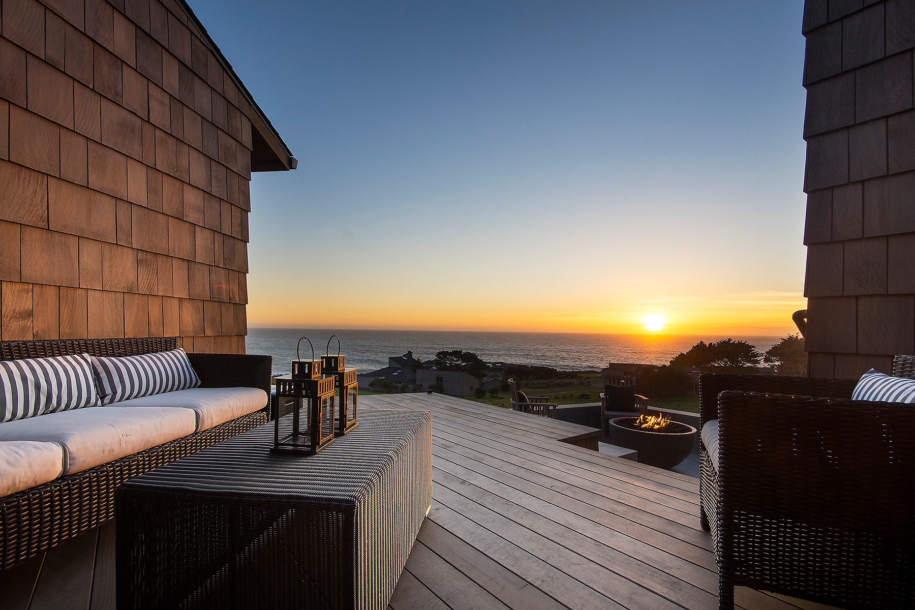 Sunset Oceanview from Deck
