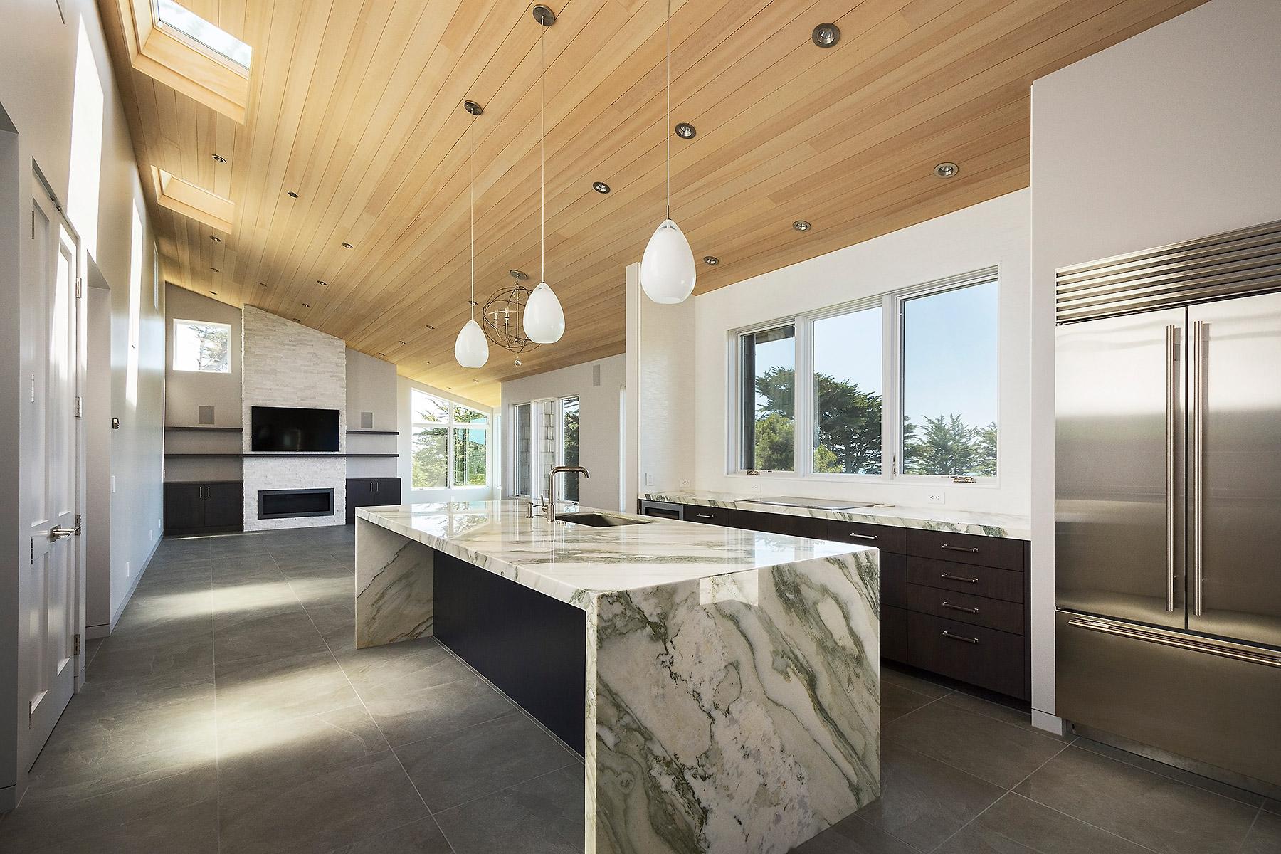 Unfurnished Expansive Kitchen / Dining / Living Area